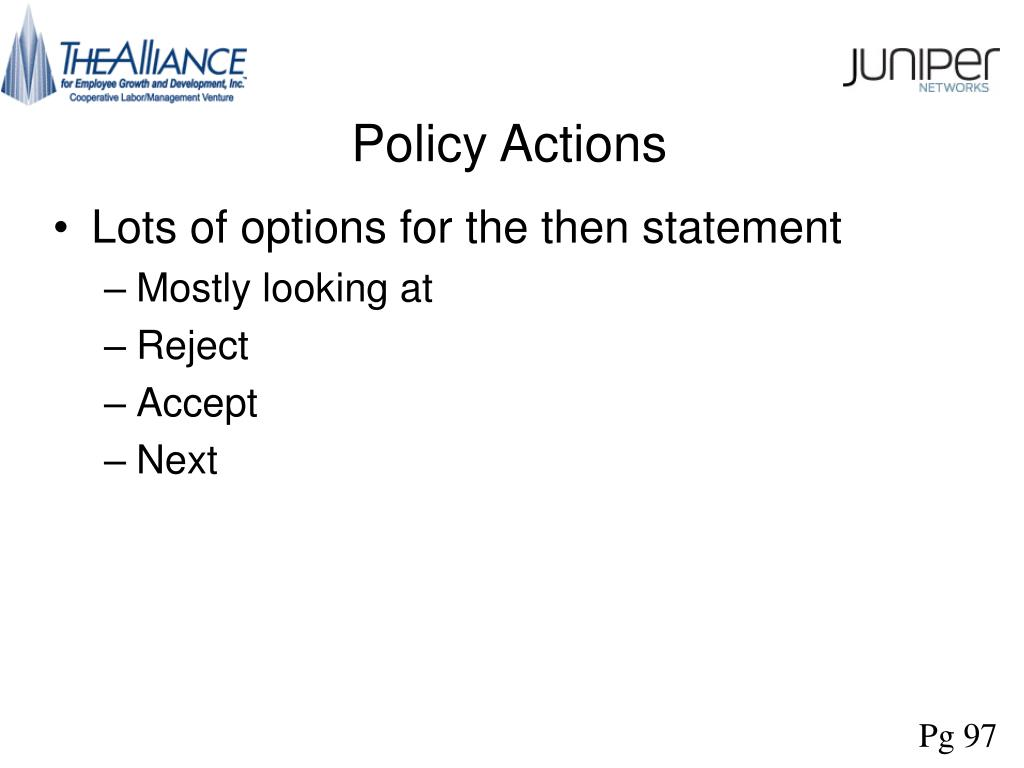 Policy Actions