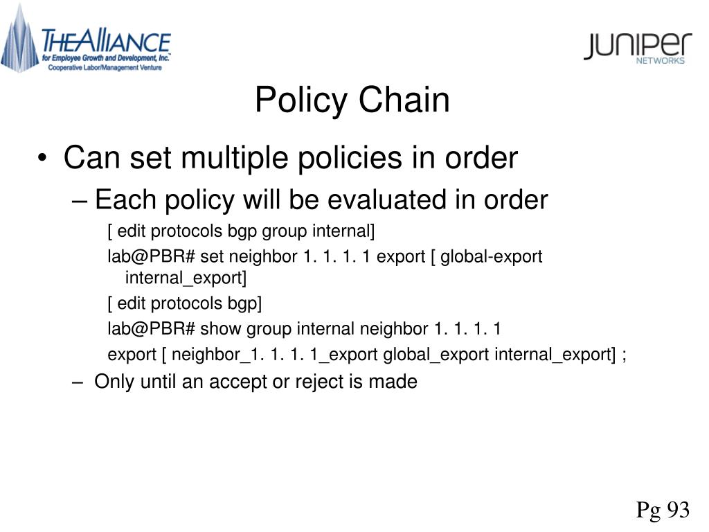 Policy Chain