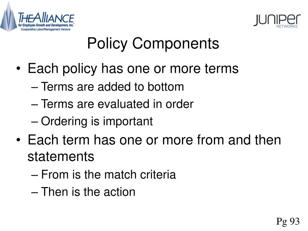 Policy Components