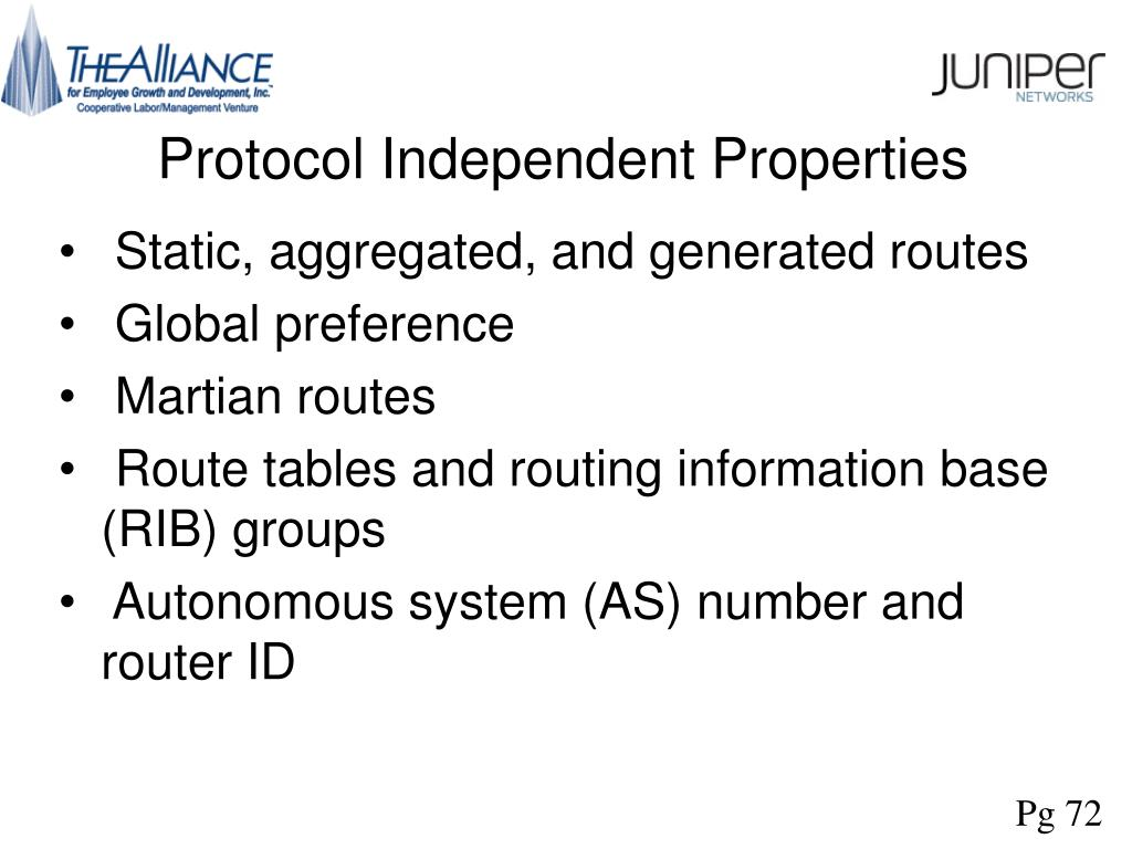 Protocol Independent Properties