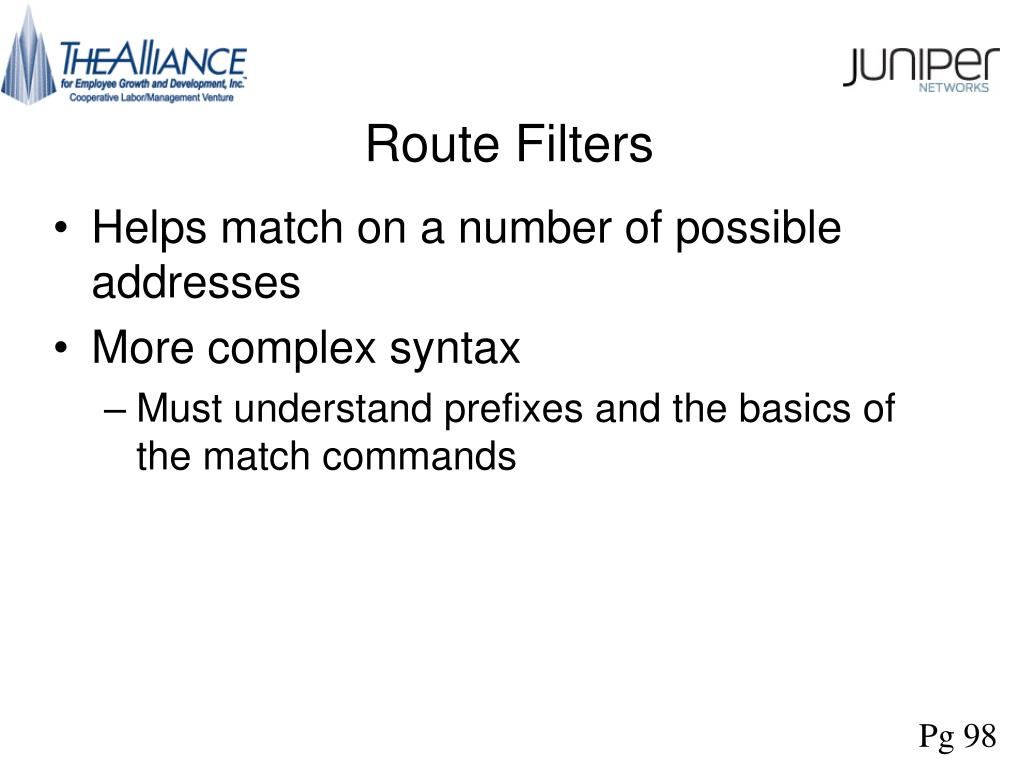 Route Filters