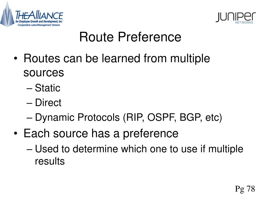 Route Preference