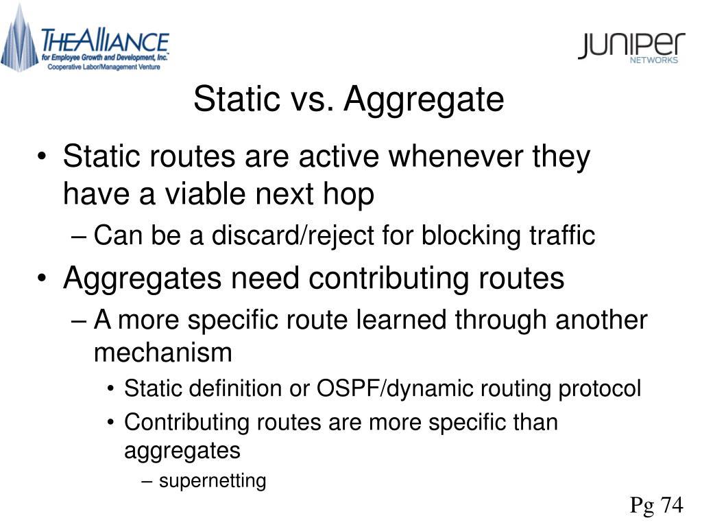 Static vs. Aggregate