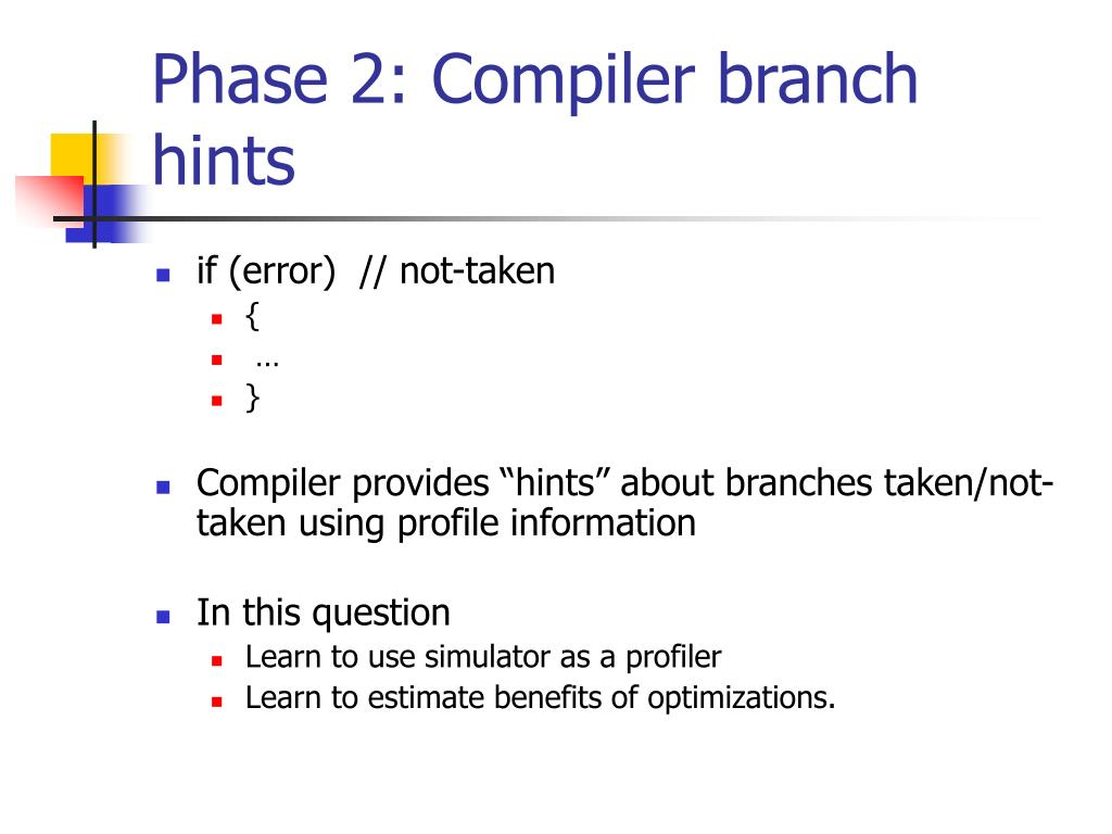 Phase 2: Compiler branch hints