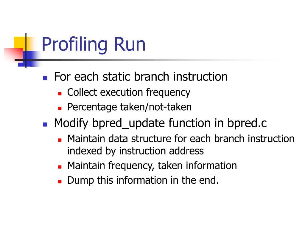 Profiling Run