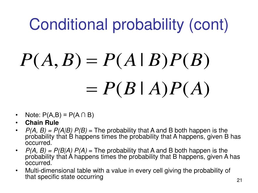 Conditional probability (cont)