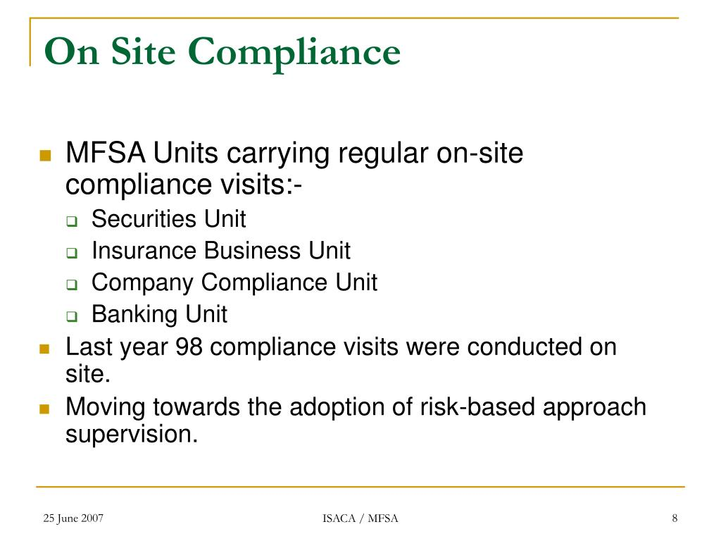 On Site Compliance