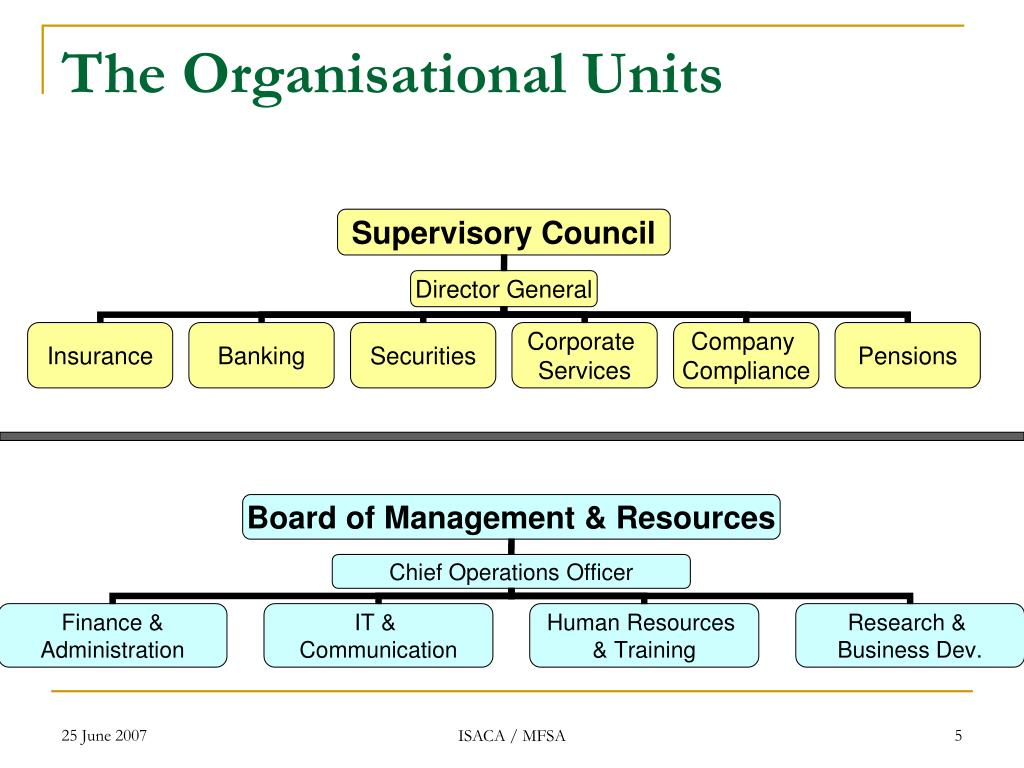 The Organisational Units