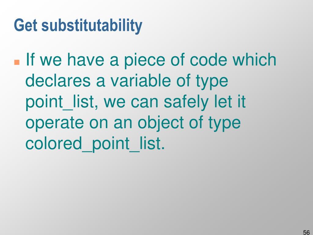Get substitutability
