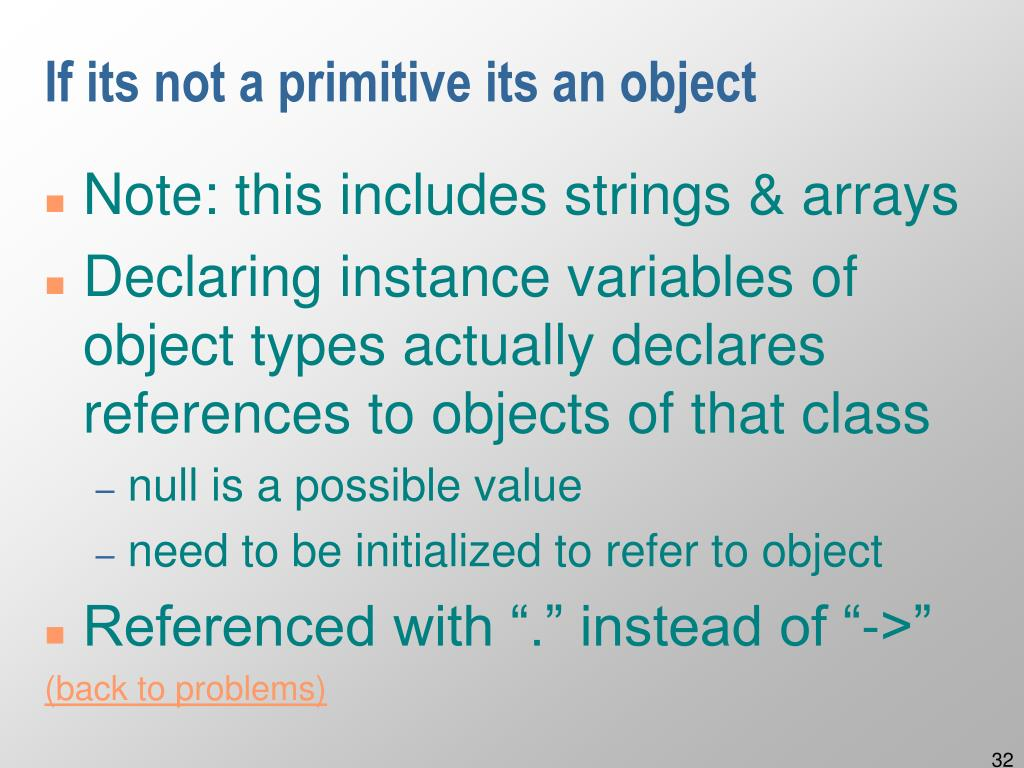 If its not a primitive its an object