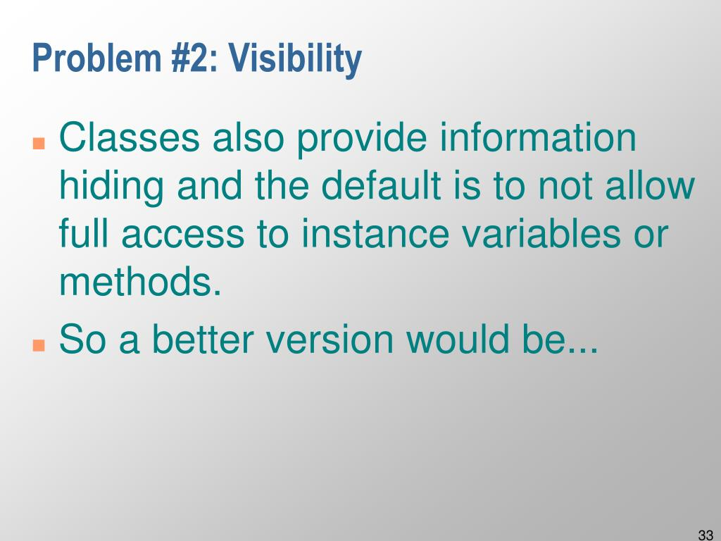 Problem #2: Visibility