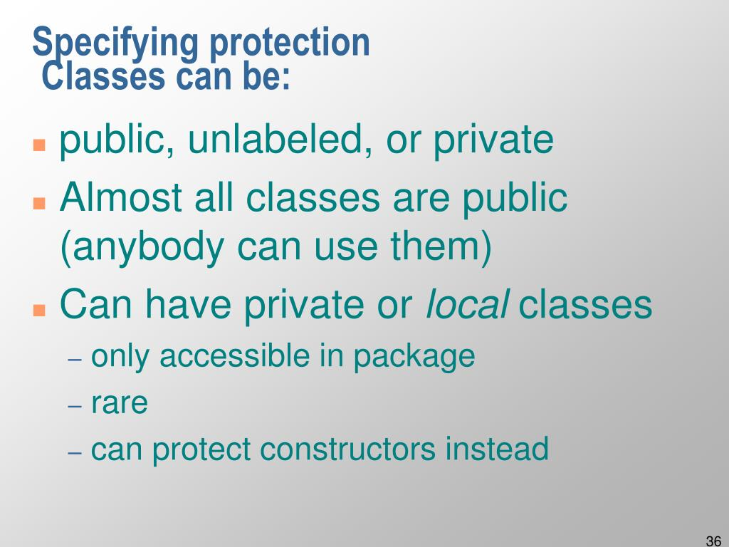 Specifying protection