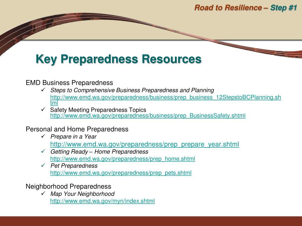 EMD Business Preparedness