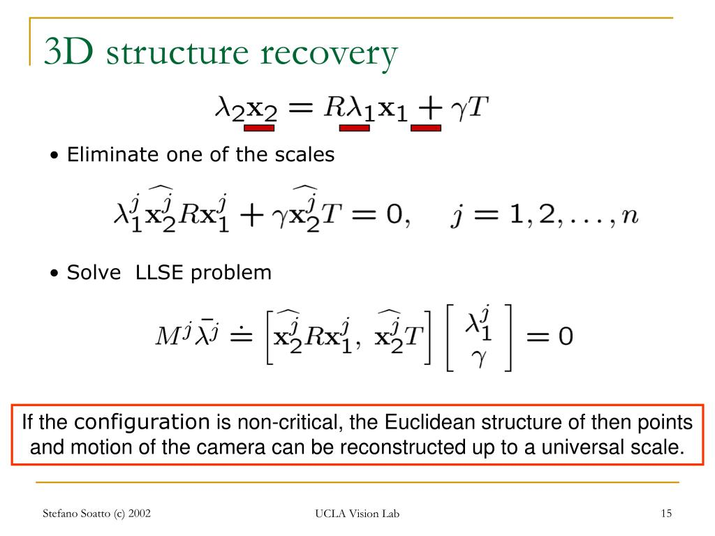 3D structure recovery