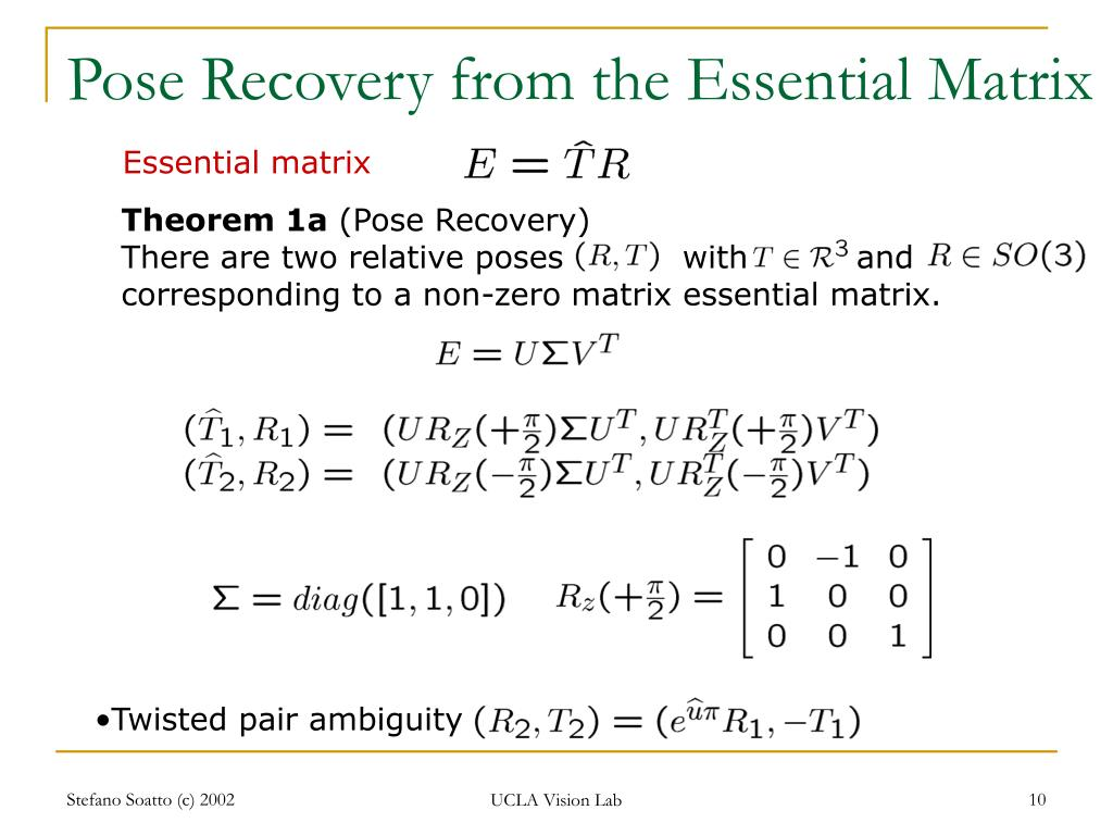 Pose Recovery from the Essential Matrix