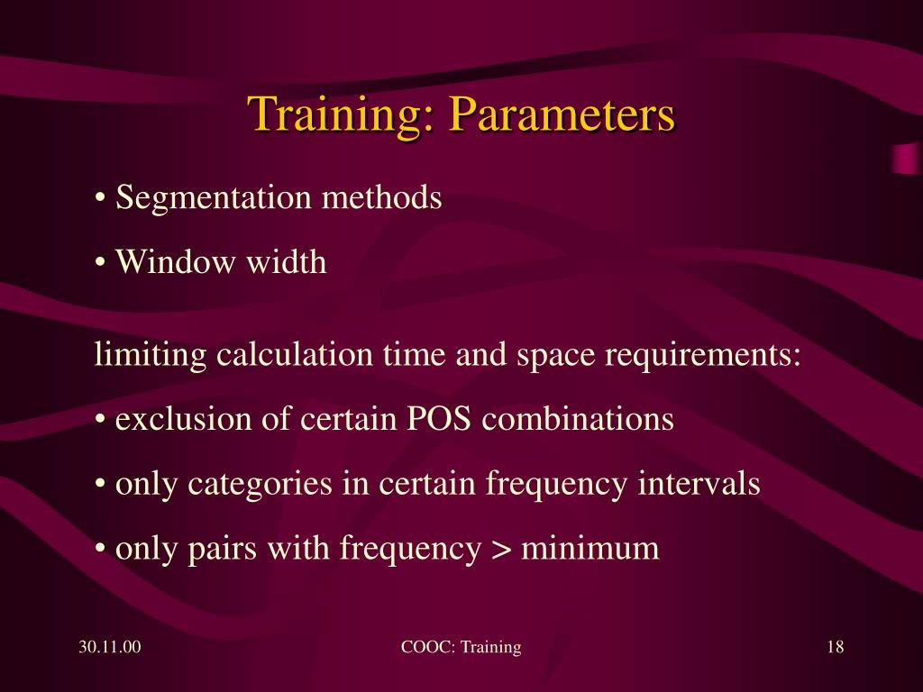 Training: Parameters