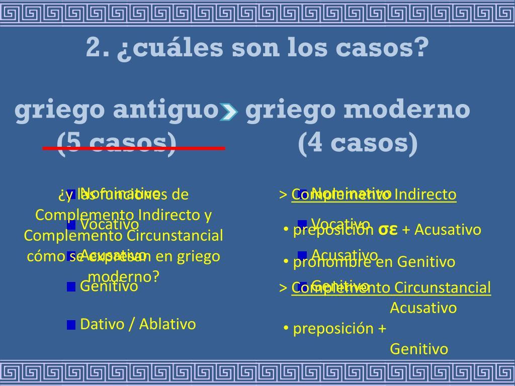 2. ¿cuáles son los casos?