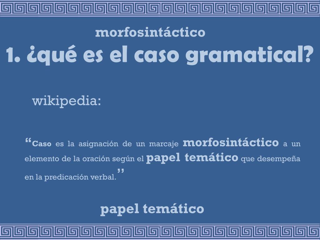 morfosintáctico