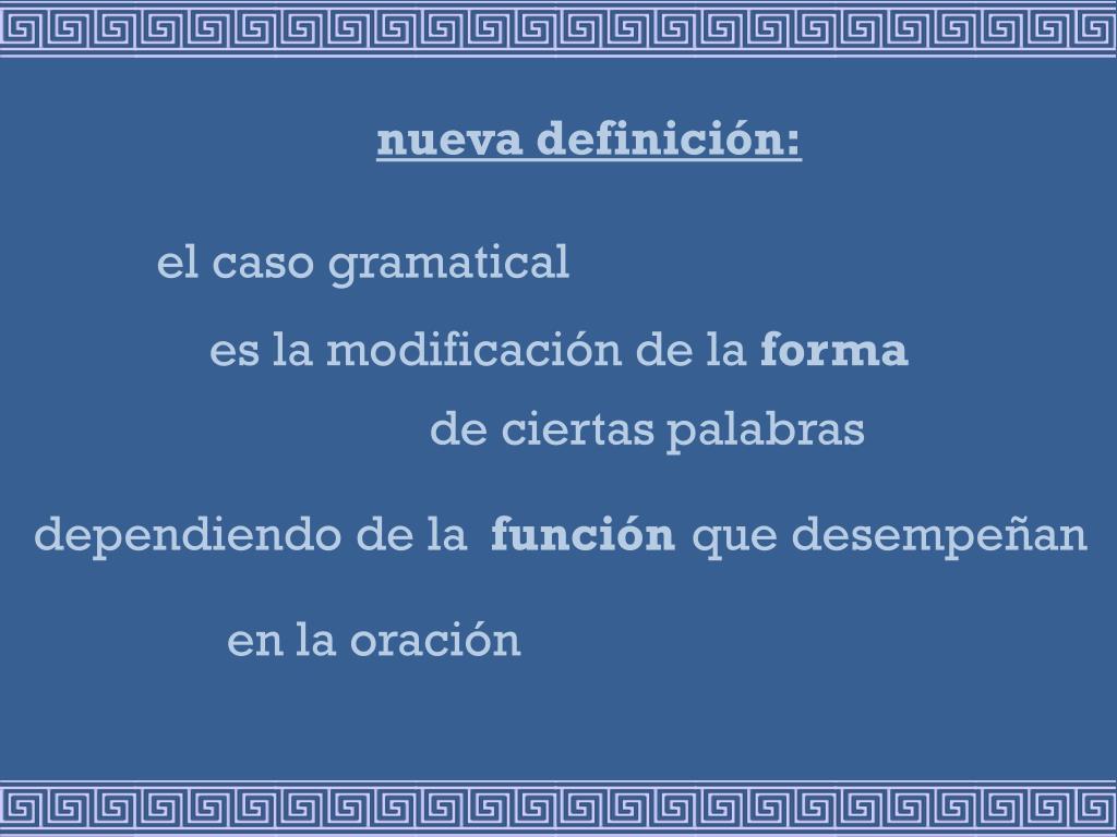 nueva definición: