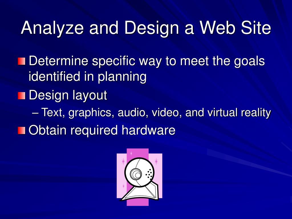 Analyze and Design a Web Site
