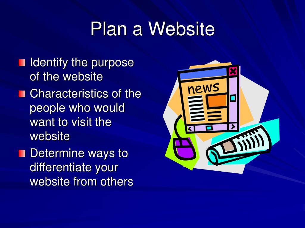 Plan a Website