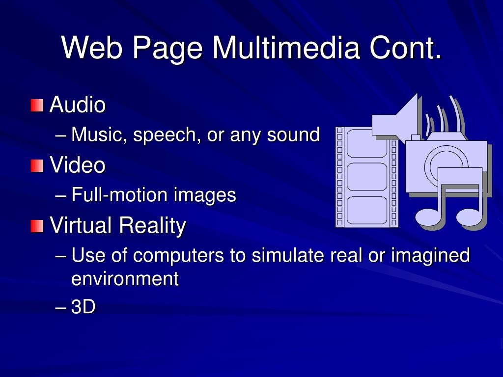 Web Page Multimedia Cont.