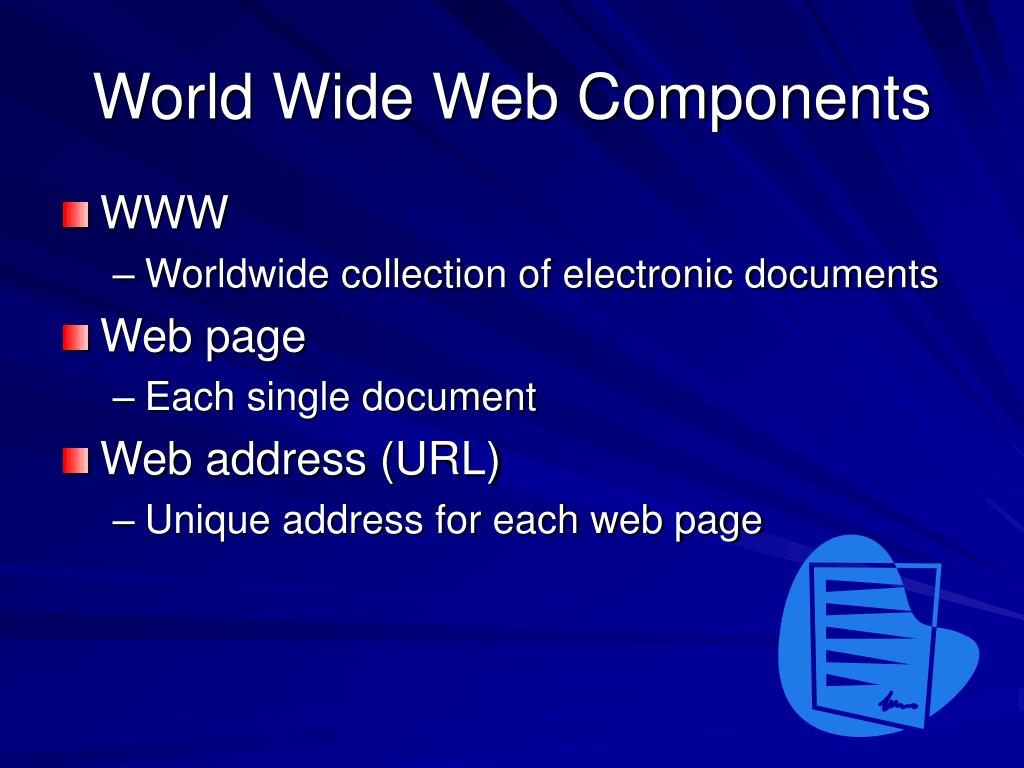 World Wide Web Components