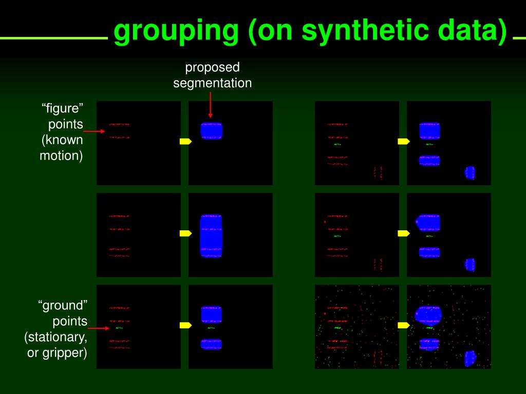 grouping (on synthetic data)