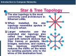 star tree topology