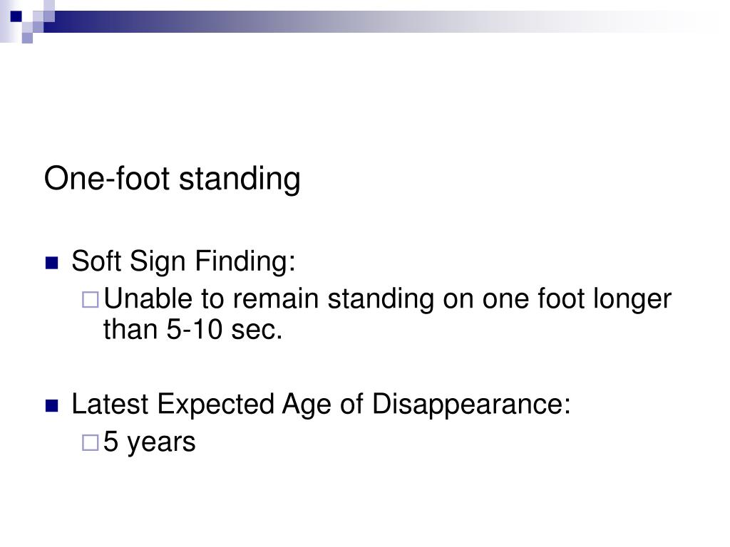 One-foot standing