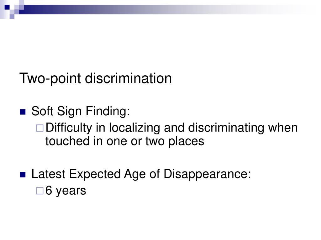 Two-point discrimination