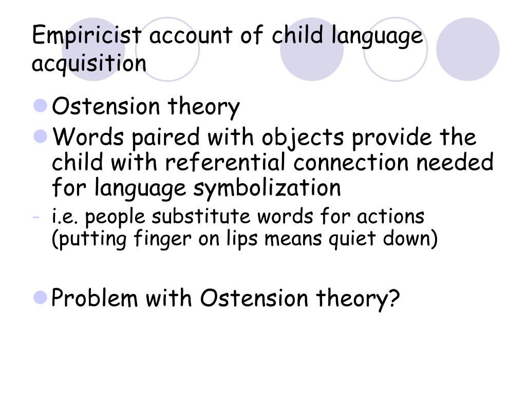 Empiricist account of child language acquisition