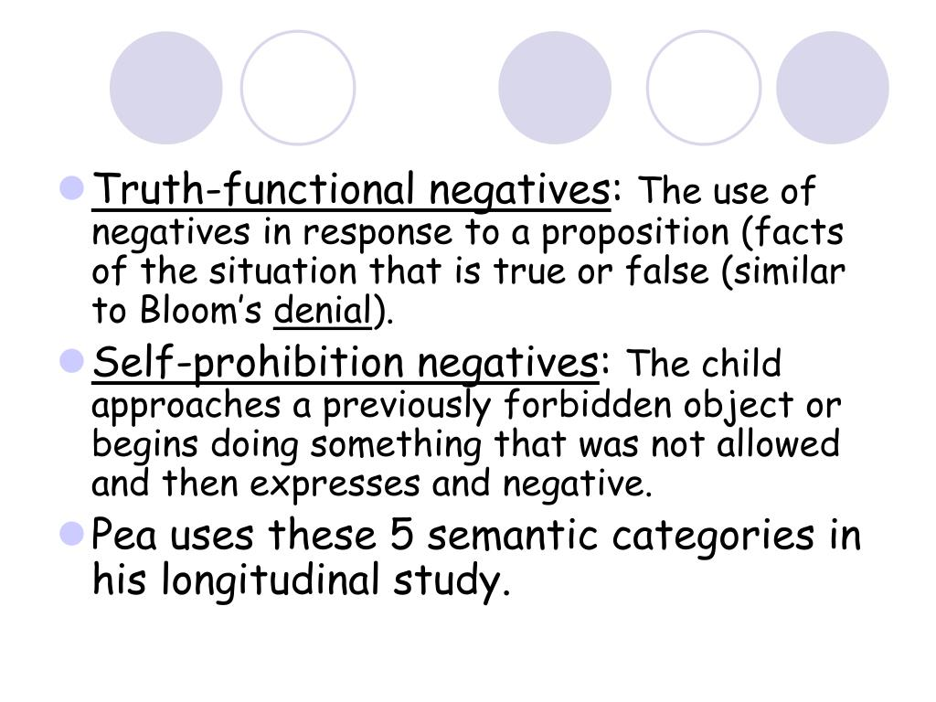 Truth-functional negatives
