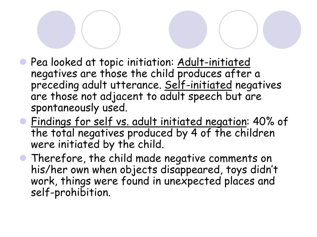 Pea looked at topic initiation: