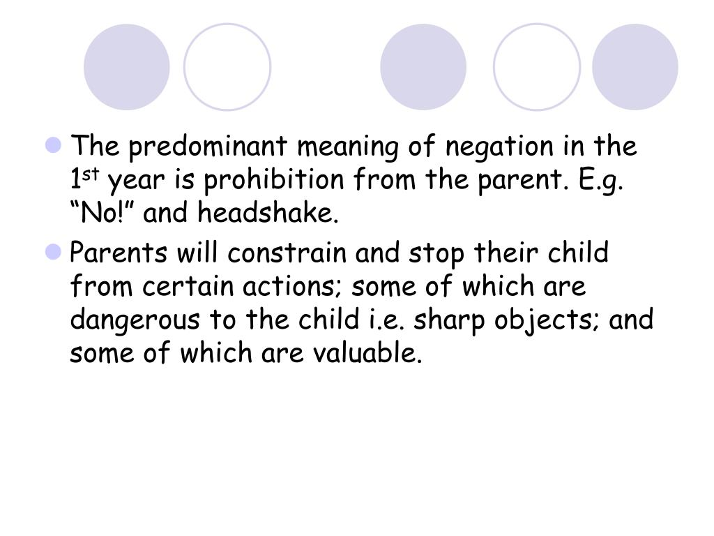 The predominant meaning of negation in the 1