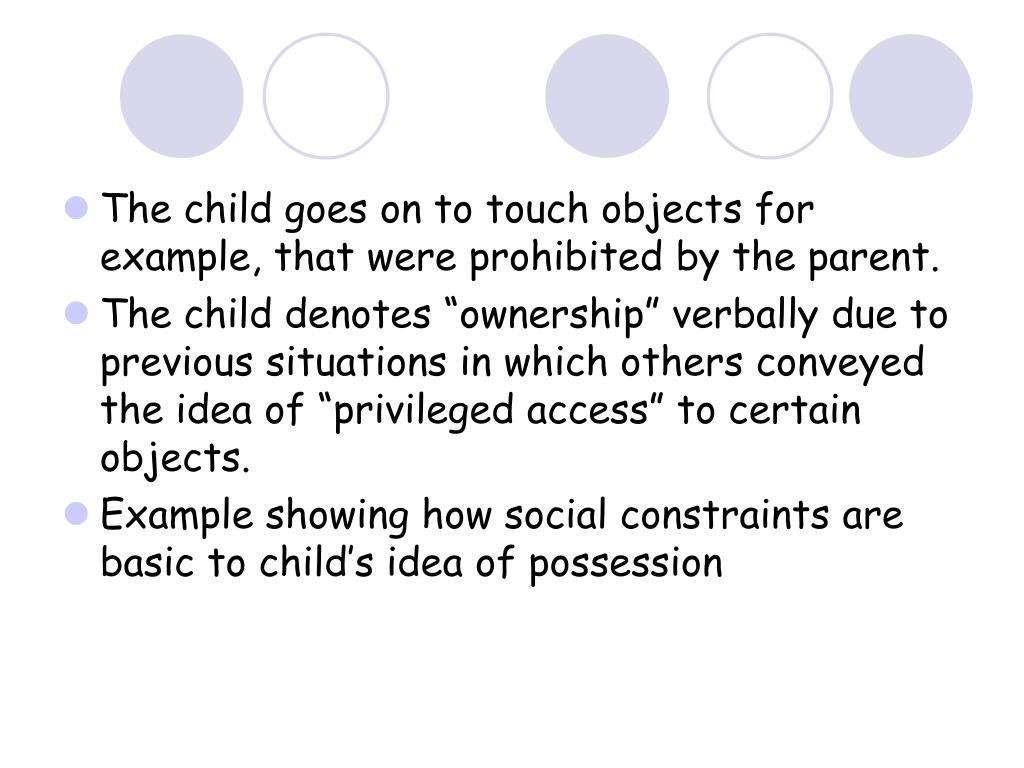 The child goes on to touch objects for example, that were prohibited by the parent.