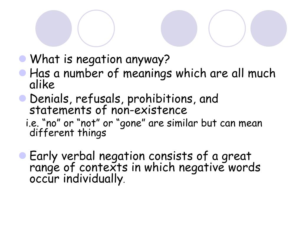 What is negation anyway?