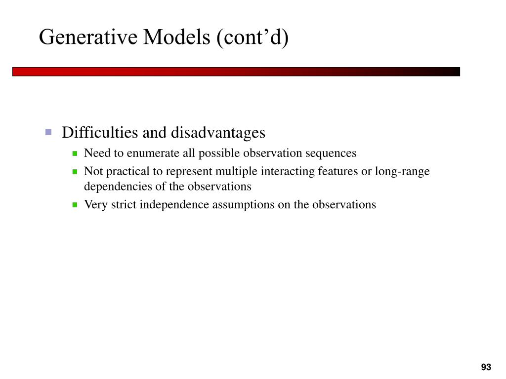 Generative Models (cont'd)