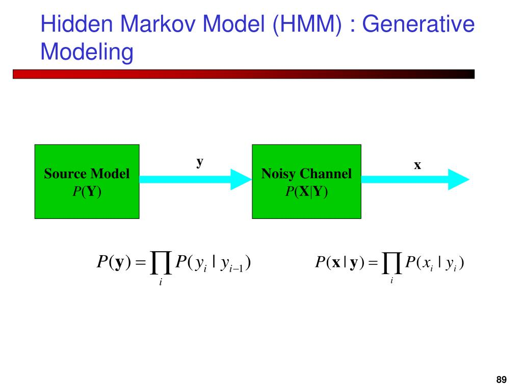Hidden Markov Model (HMM) : Generative Modeling