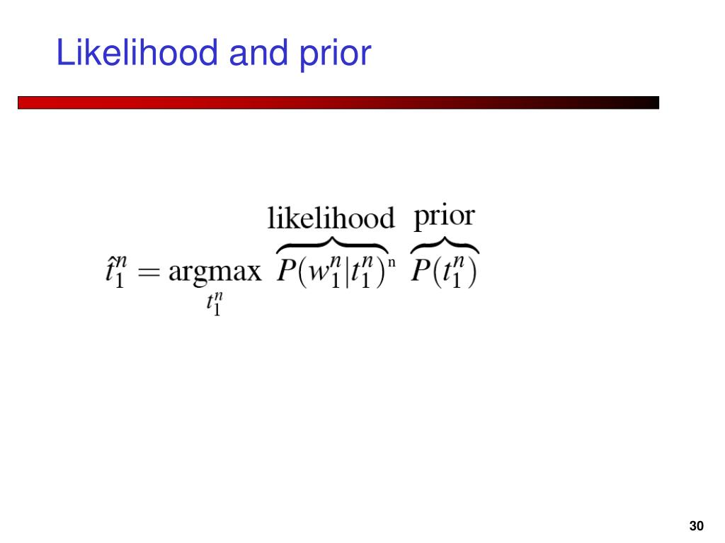 Likelihood and prior
