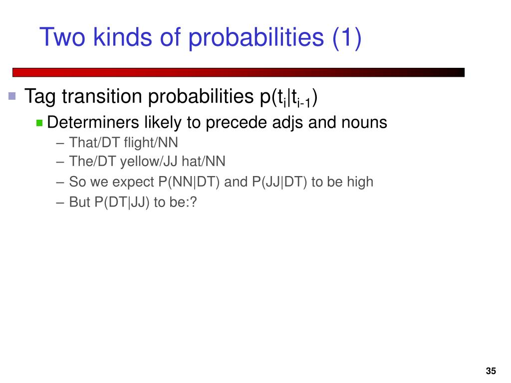 Two kinds of probabilities (1)