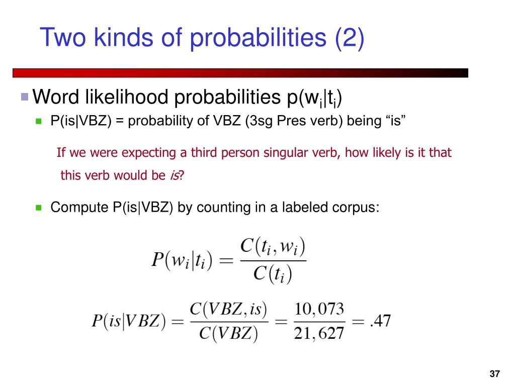 Two kinds of probabilities (2)