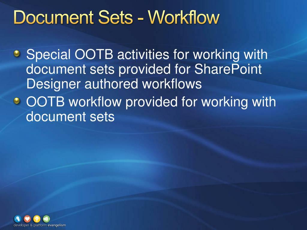 Document Sets - Workflow