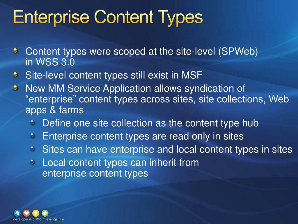 Enterprise Content Types