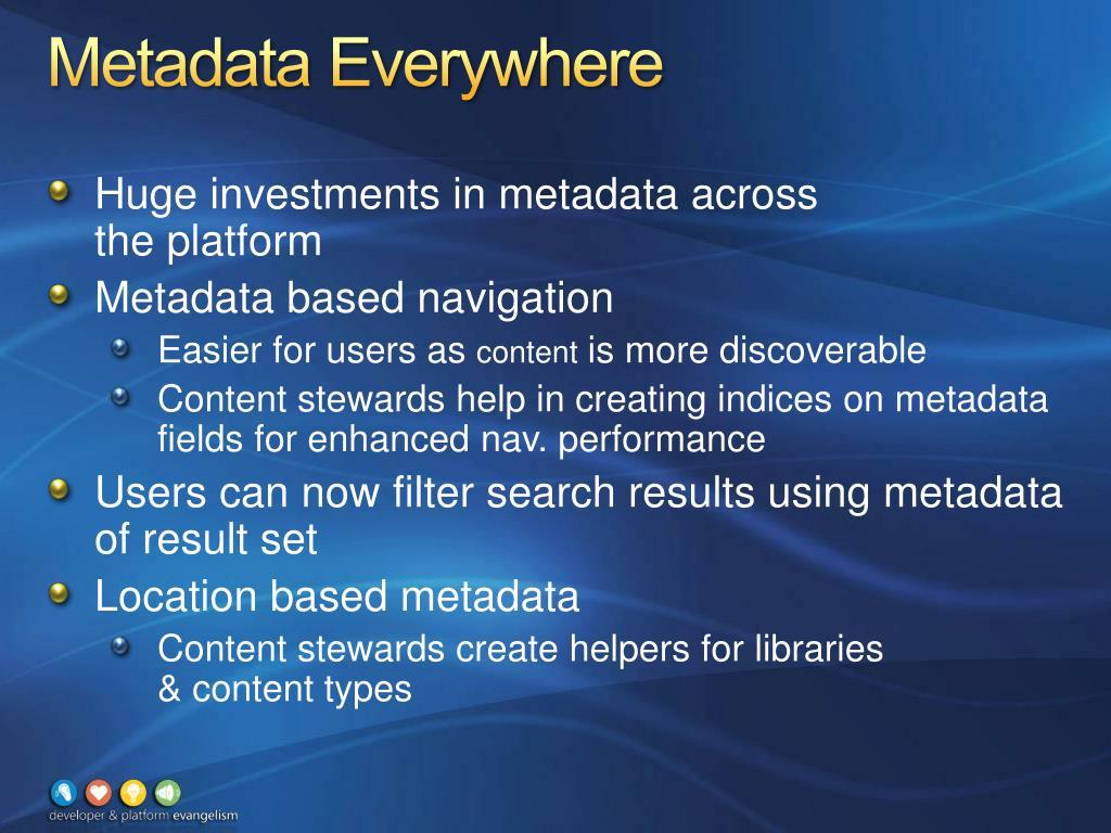 Metadata Everywhere