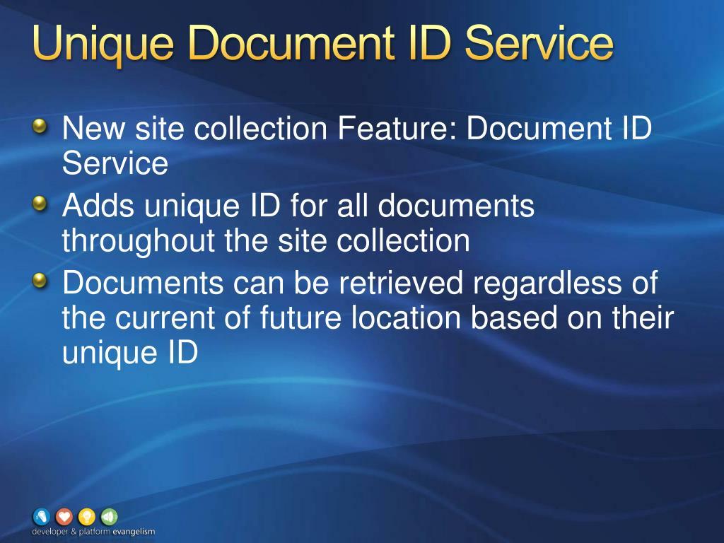 Unique Document ID Service