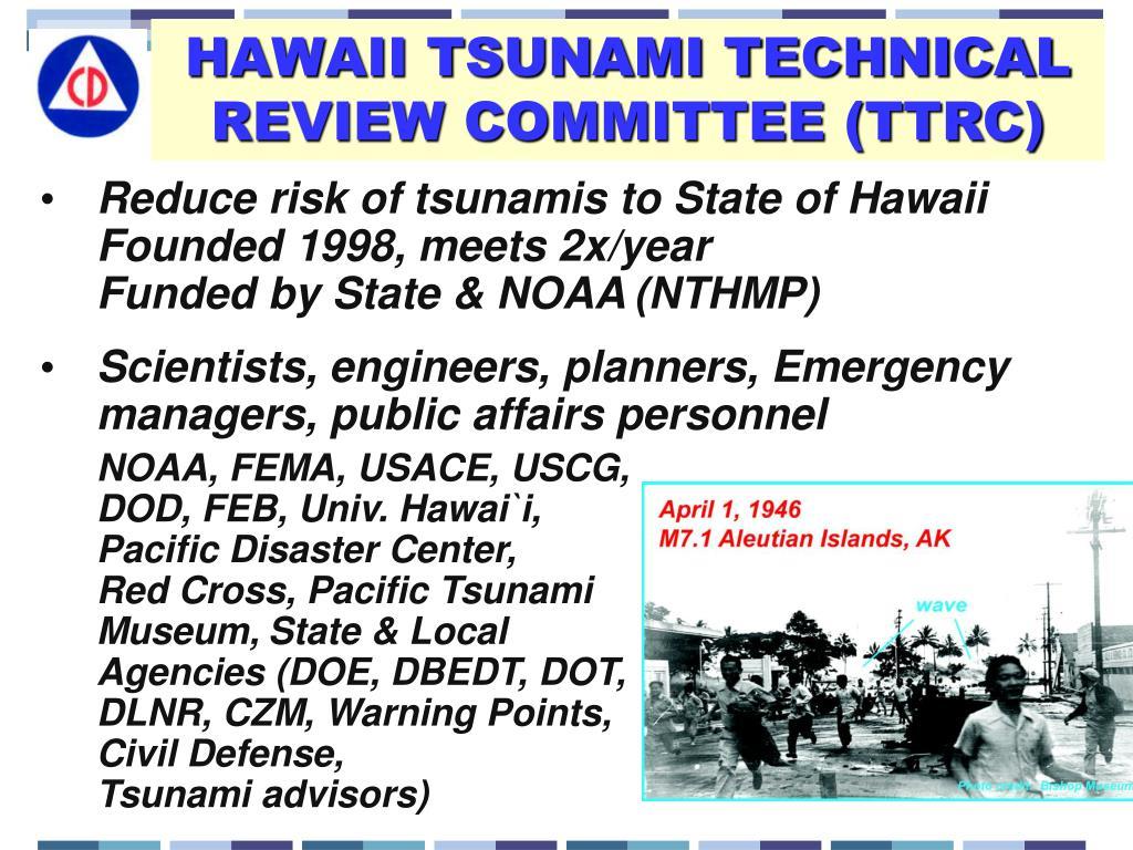 HAWAII TSUNAMI TECHNICAL