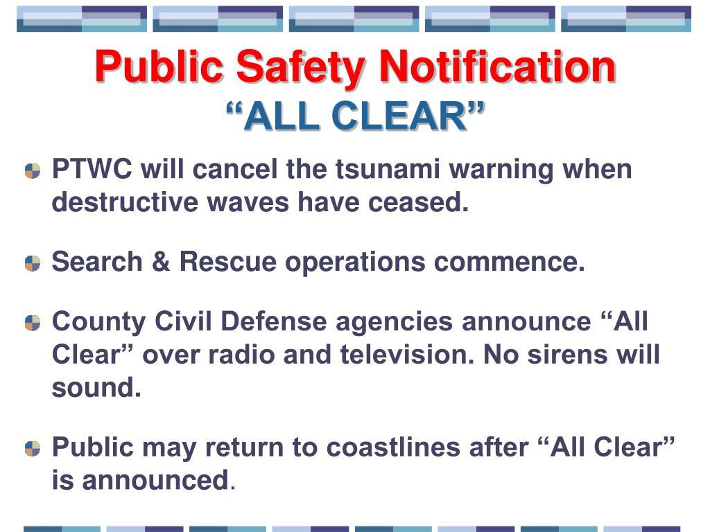 Public Safety Notification