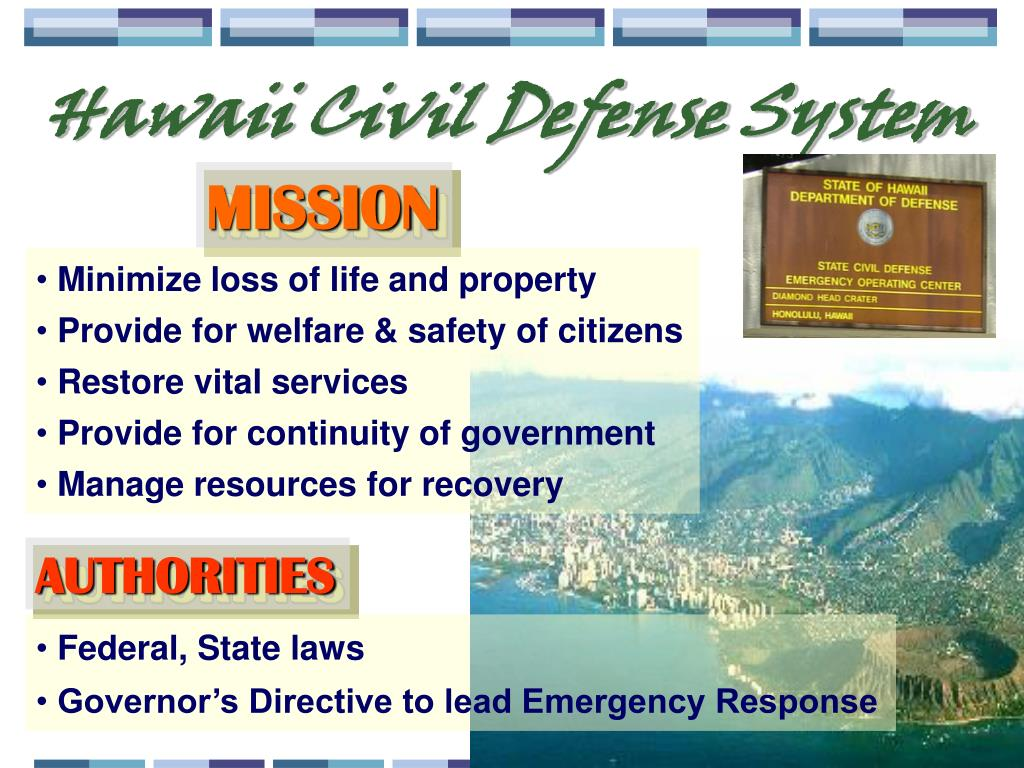 Hawaii Civil Defense System