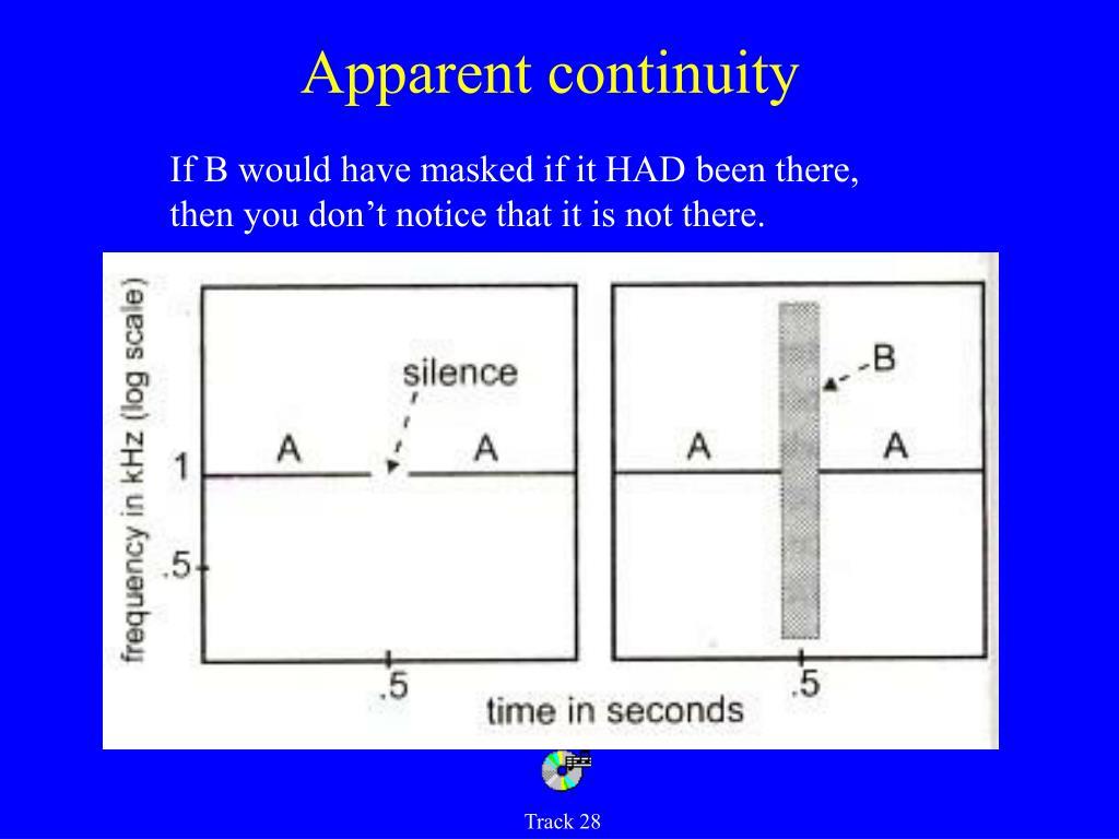 Apparent continuity